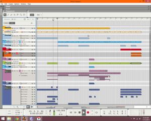 screen shot of next song I'm working on